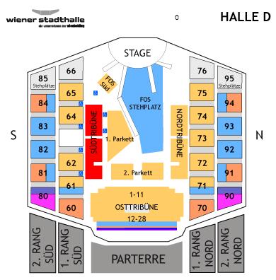 Wiener Stadthalle Sitzplan